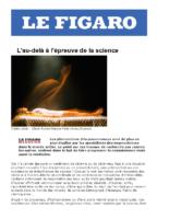 2009.11.14 | L'au-delà à l'épreuve de la science | Le Figaro