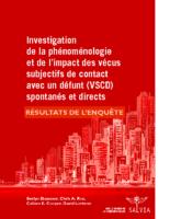 Investigation de VSCD – RÉSULTATS DE LA RECHERCHE